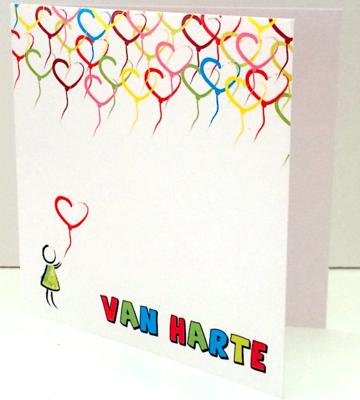 Wenskaart - Van Harte