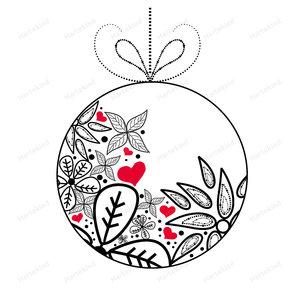 Kerstkaart Kerstbal